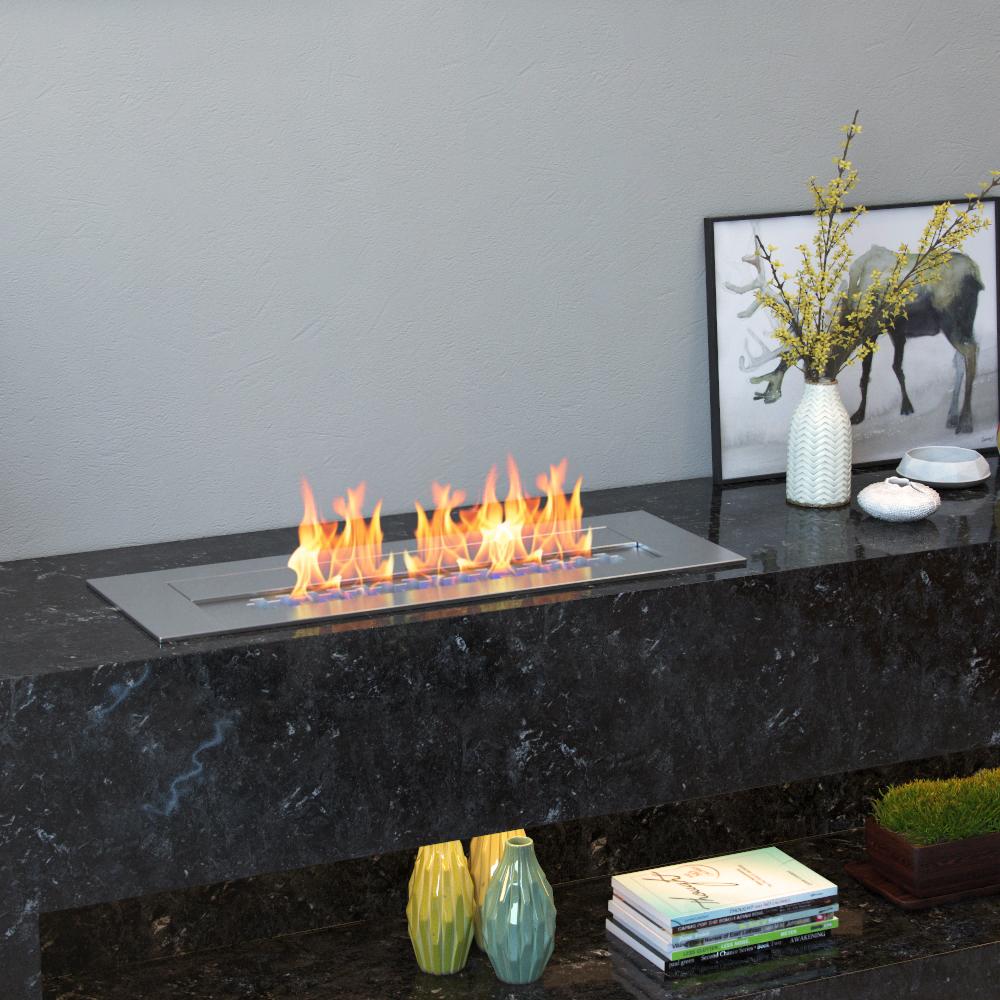 Regal Flame Pro 18 Inch Bio Ethanol Fireplace Burner Insert 2 6 Liter