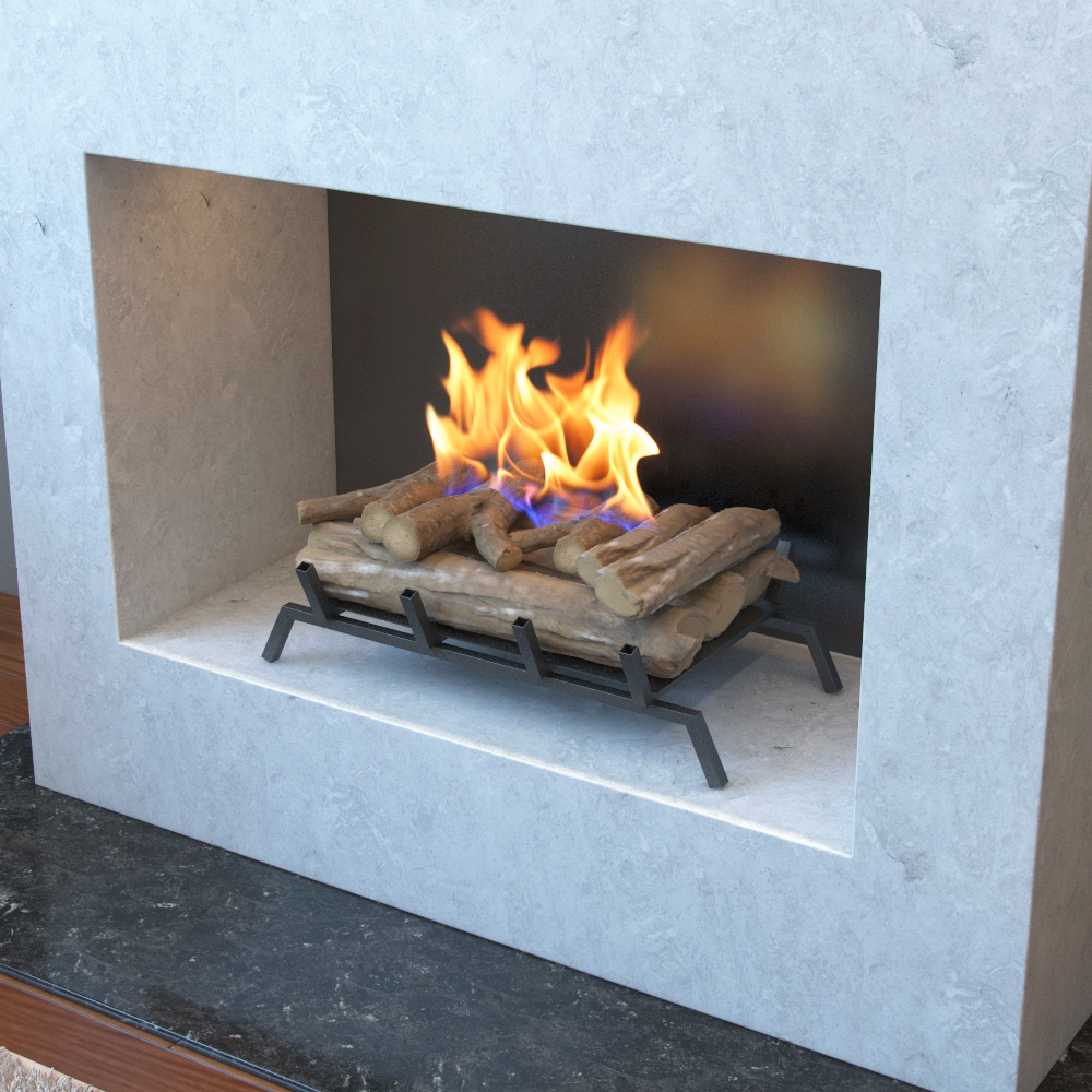24 Inch Convert to Ethanol Fireplace Log Set with Burner Insert from Gel or Gas Logs-Regal Flame 24 Inch Convert to Ethanol Fireplace Log Set with Burner Insert from Gel or Gas Logs This dark oak ethanol fireplace log conversion kit offers a real fir