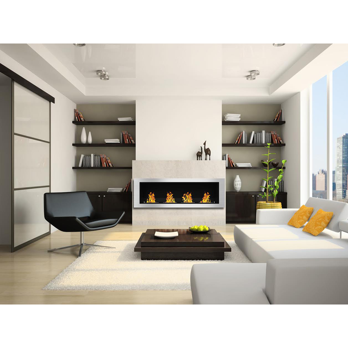 Regal Flame Charlotte 64 Inch Ventless Built In Recessed ...