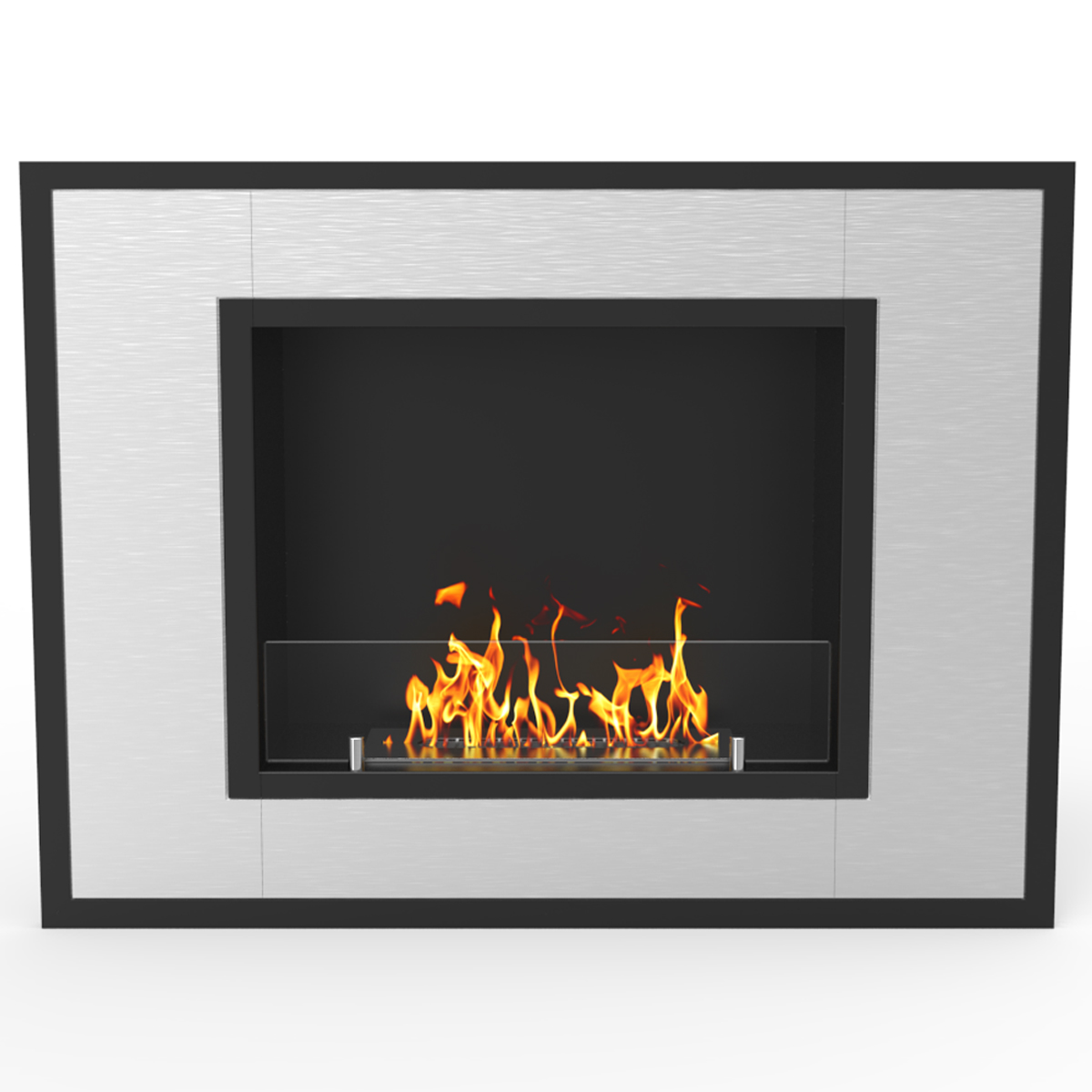 Regal Flame Austin 32 Inch Ventless Built In Recessed Bio Ethanol Wall Mounted Fireplace