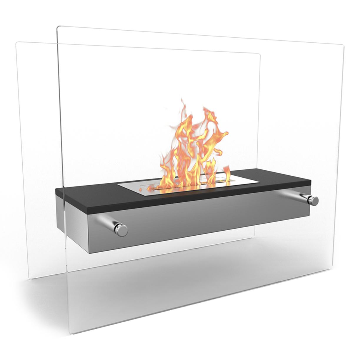 regal flame vista tabletop portable bio ethanol fireplace in black. Black Bedroom Furniture Sets. Home Design Ideas