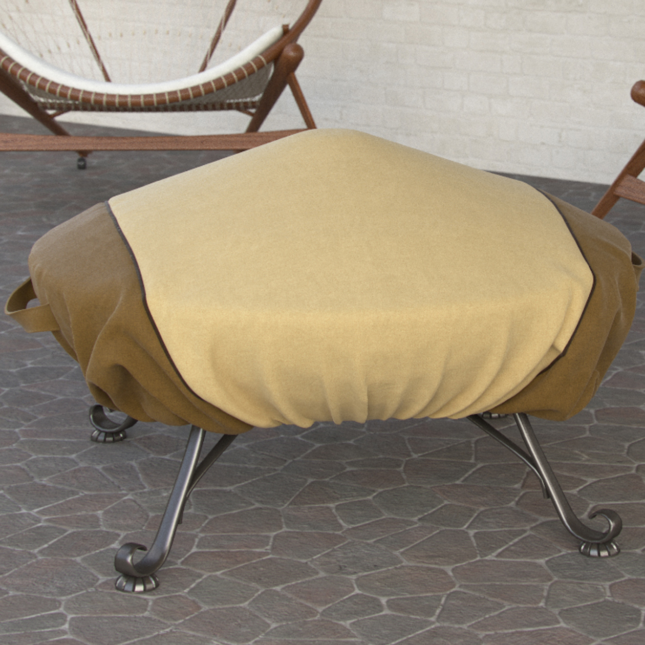Large Dura Covers Fade Proof Tane 44 Heavy Duty Round Fire Pit Cover Durable and Water Resistant Firepit Cover
