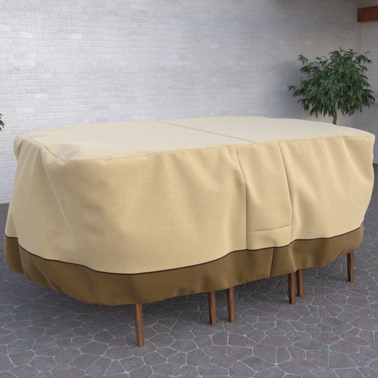 Fade Proof Rectangular Or Oval Heavy Duty Patio Table U0026 Chair Set Cover    Durable And Water Resistant Outdoor Furniture Cover, Medium Part 81