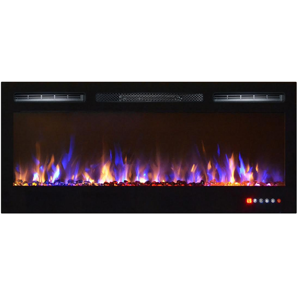 flame cooling classic fireplace n electric home depot b wall venting heating the mount fireplaces in mounted black