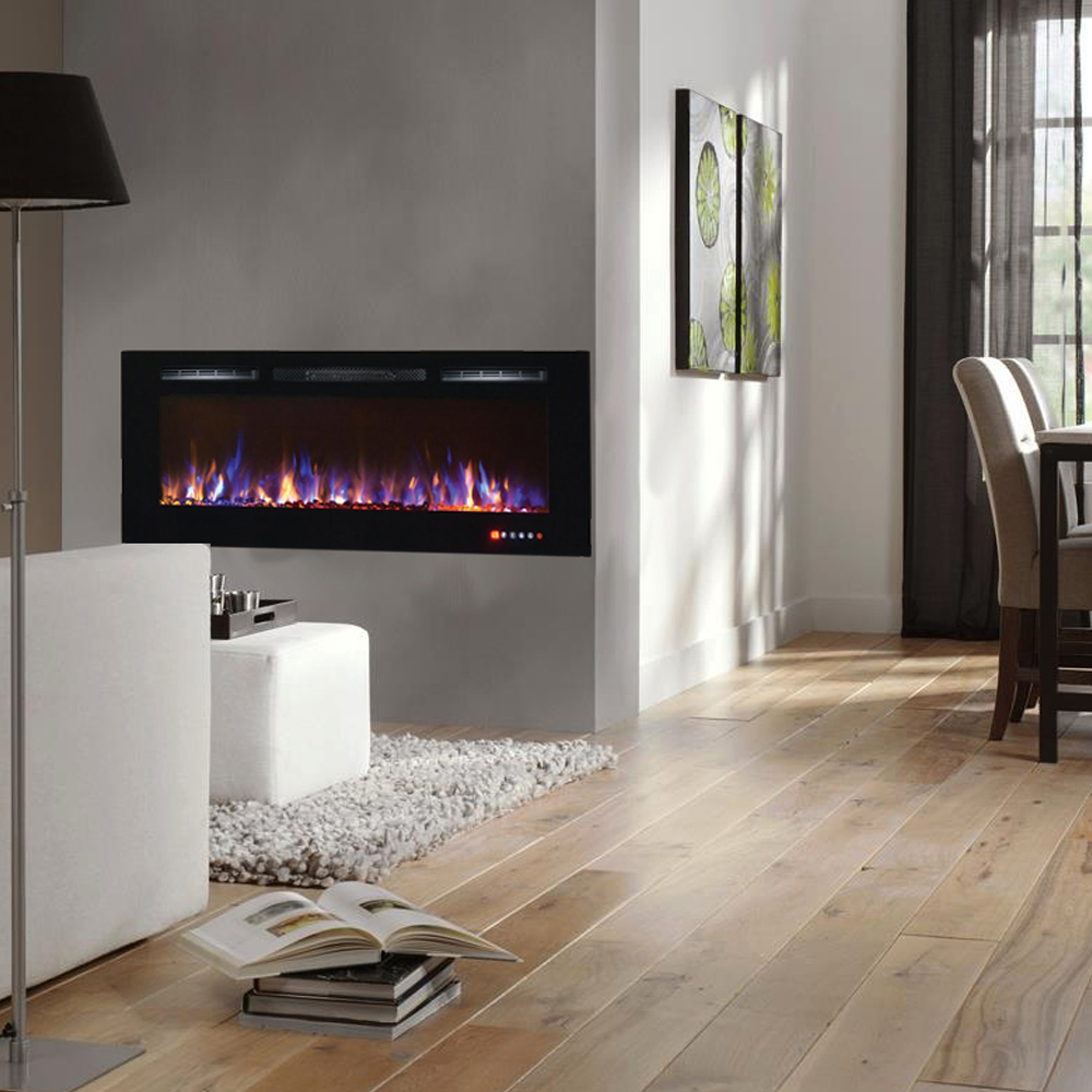 electric wall fireplace recessed inch mounted crystal fireplaces madison within awesome