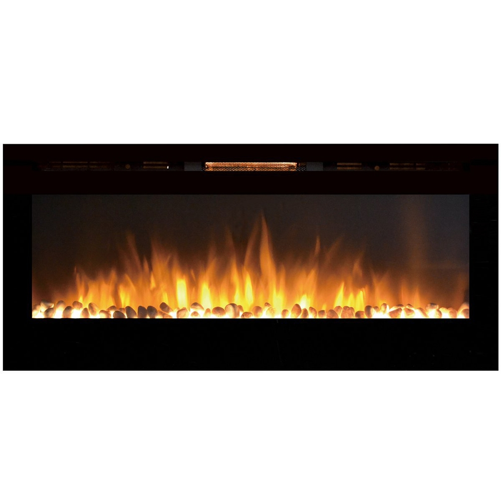 Regal Flame Fusion 50 Inch Built-in Ventless Heater Recessed Wall Mounted Electric Fireplace - Pebble-Regal Flame Fusion 50 Inch Built-in Ventless Heater Recessed Wall Mounted Electric Fireplace - Pebble If you want to add a dynamic and vivacious vib
