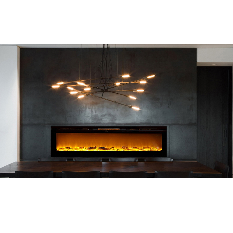 Regal Flame Astoria 60 Inch Built In Ventless Heater Recessed Wall Mounted Electric Fireplace Log