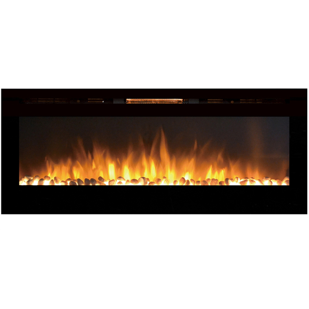 regal flame astoria 60 inch built in ventless heater recessed wall