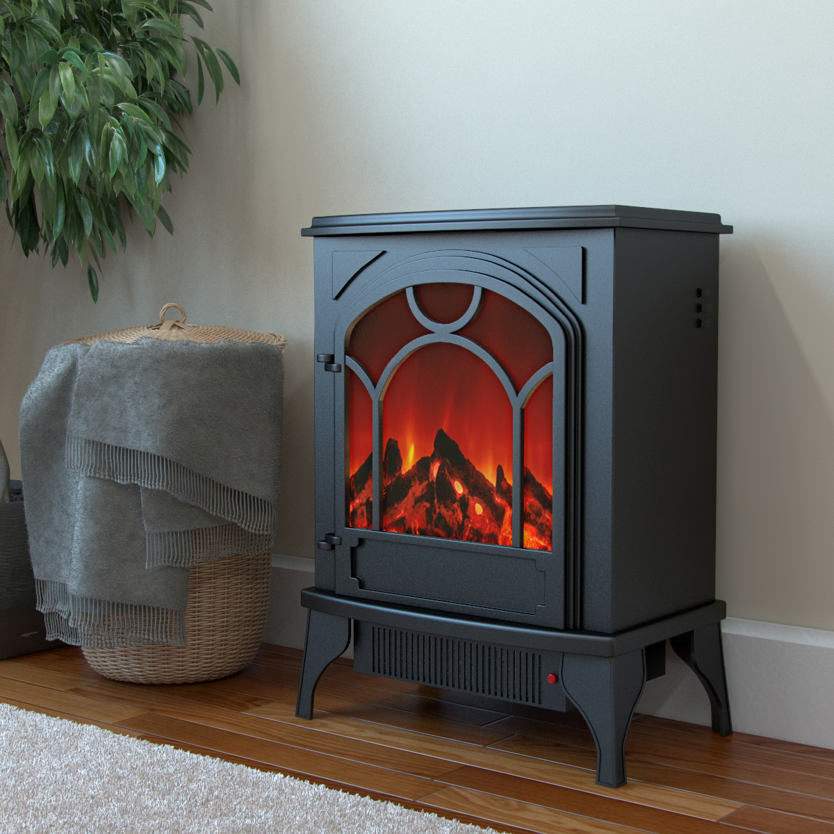 Regal Flame Aries Electric Fireplace Free Standing Portable Space Heater Stove-Regal Flame Aries Electric Fireplace Free Standing Portable Space Heater Stove The Aries electric stove delivers a classic picture frame front and dancing flame in a small