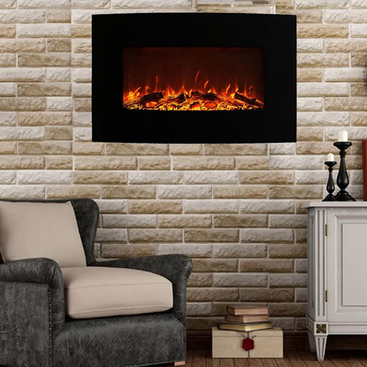 regal flame madison 35 inch ventless heater electric wall mounted