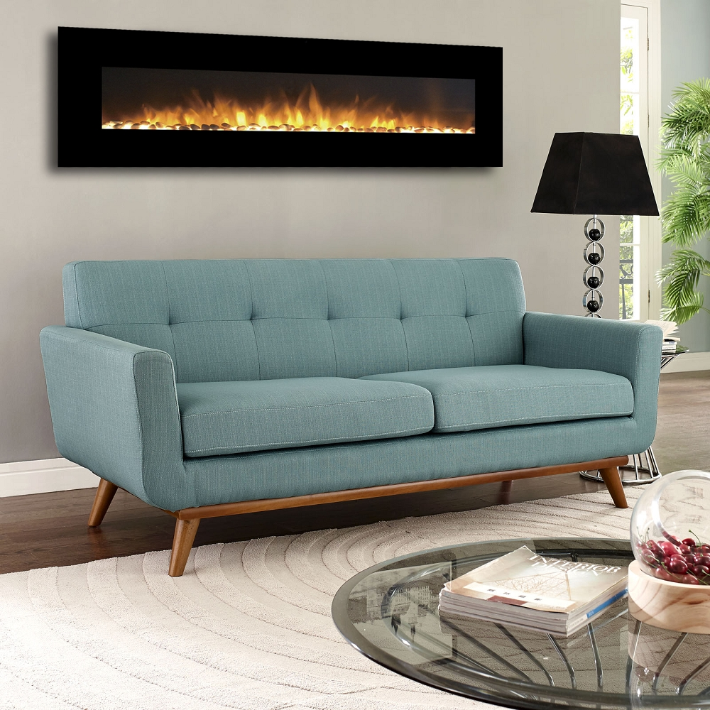 regal flame erie  inch black ventless heater electric wall  - regal flame erie  inch black ventless heater electric wall mountedfireplace  pebble