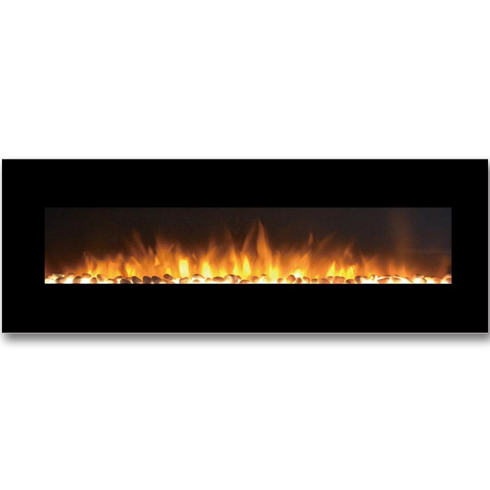 Regal Flame Erie 72 Inch Black Ventless Heater Electric