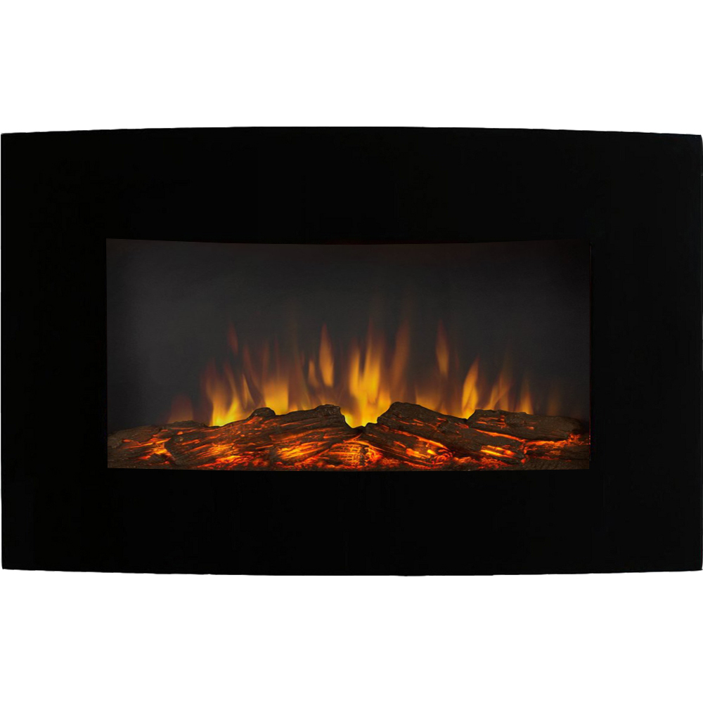 Regal Flame Broadway 35 Inch Ventless Heater Electric Wall Mounted Fireplace Log