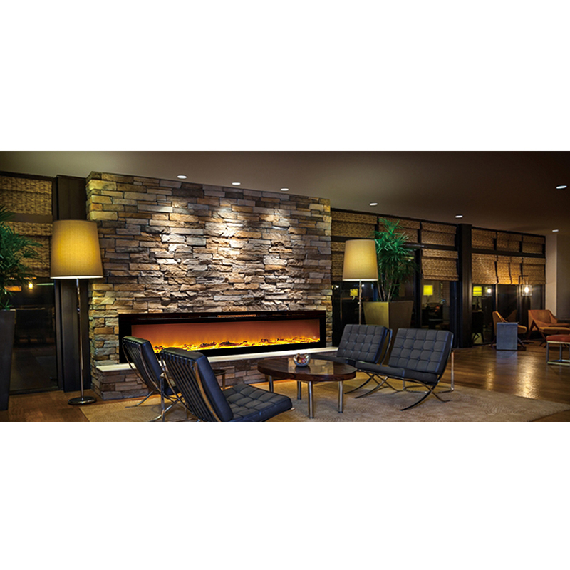 Regal Flame Gotham 72 Inch Built In Ventless Heater Recessed Wall Mounted Electric Fireplace Log