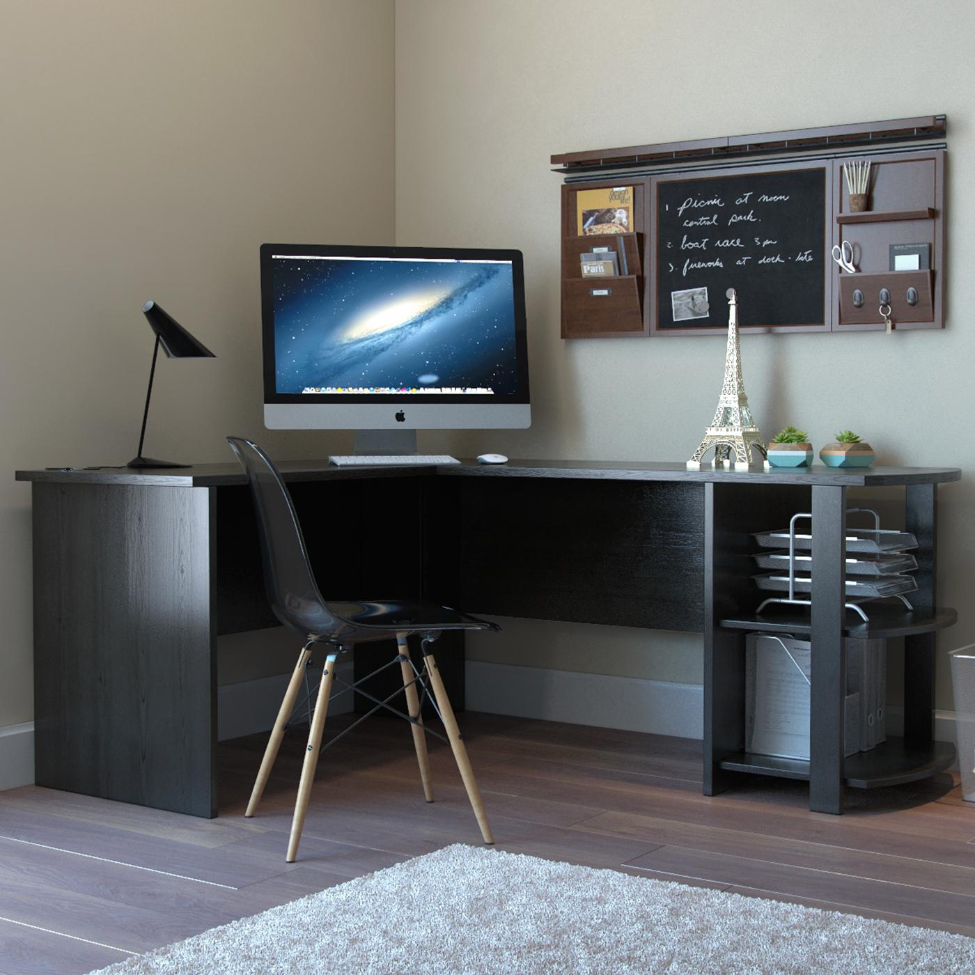 Ryan Rove Kristen Corner L Shaped Computer Desk In Black