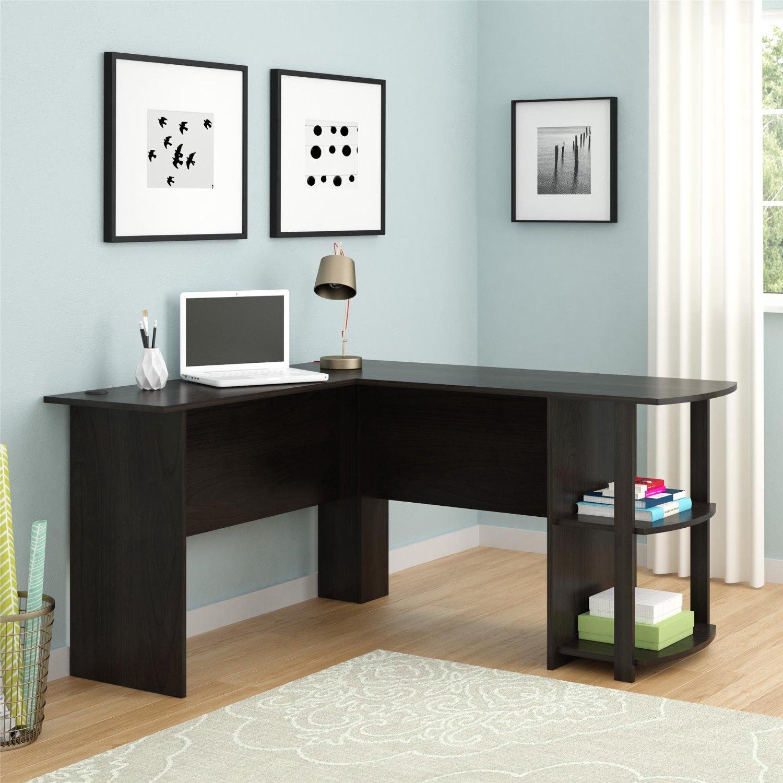 - Ryan Rove Kristen Corner L-Shaped Computer Desk In Dark Russet Cherry