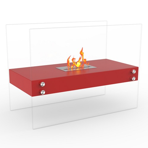 Regal Flame Ionic Ventless Free Standing Ethanol Fireplace in Red