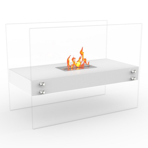 Regal Flame Ionic Ventless Free Standing Ethanol Fireplace in White