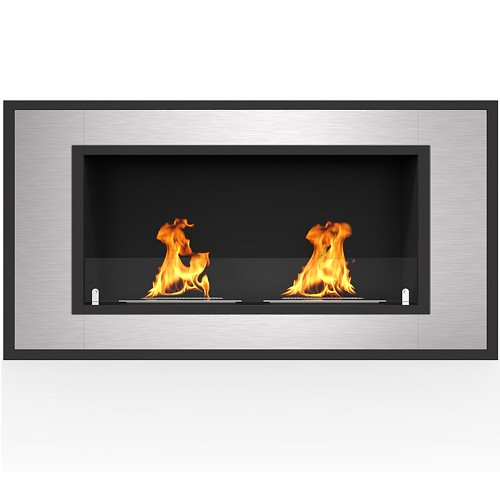 Regal Flame Cynergy 43 Inch Ventless Built In Recessed Bio Ethanol Wall Mounted Fireplace