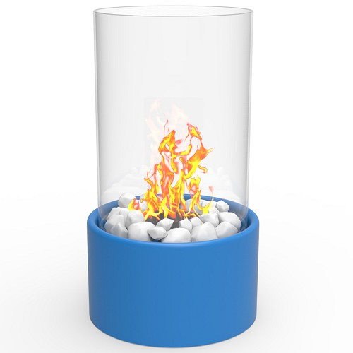 Regal Flame Eden Ventless Tabletop Portable Bio Ethanol Fireplace in Blue