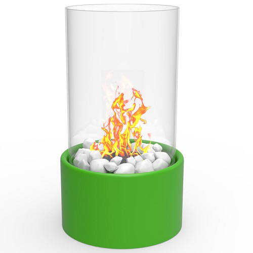 Regal Flame Eden Ventless Tabletop Portable Bio Ethanol Fireplace in Green