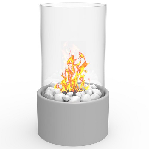 Regal Flame Eden Ventless Tabletop Portable Bio Ethanol Fireplace in Gray