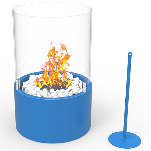 Regal Flame Casper Ventless Ventless Tabletop Portable Bio Ethanol Fireplace in Blue