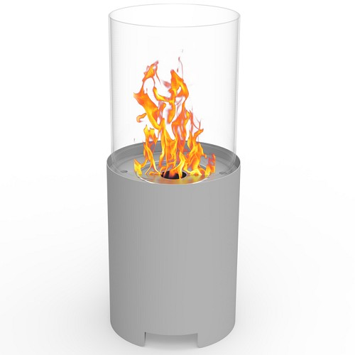 Regal Flame Capelli Ventless Tabletop Portable Bio Ethanol Fireplace in Gray