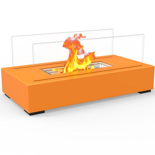 Regal Flame Utopia Ventless Tabletop Portable Bio Ethanol Fireplace in Orange