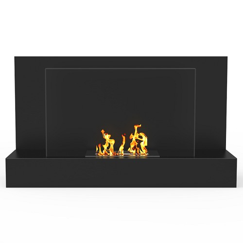 Regal Flame Tucson 35 Inch Ventless Wall Mounted Bio Ethanol Fireplace in Black