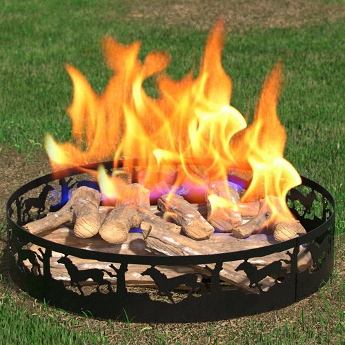 Regal Flame Boston Backyard Garden Home Running Horse Light Wood Fire Pit Fire Ring. For RV, Camping, and Outdoor Fireplace. Works as Firewood Patio Heater, Stove or Firebowl without Propane Gas