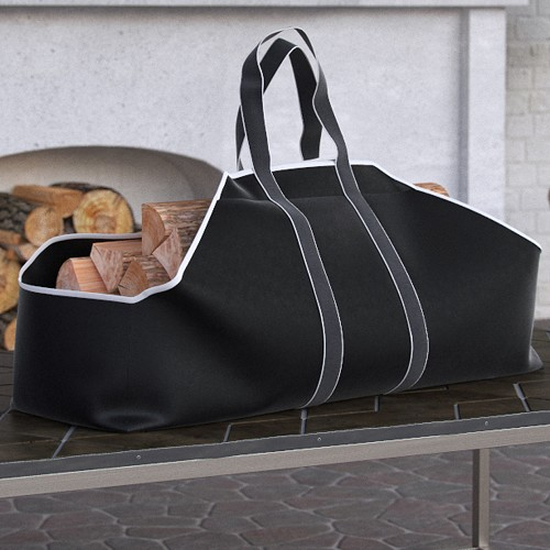 Dura Covers Black Heavy Duty Large Firewood Log Carrier Tote