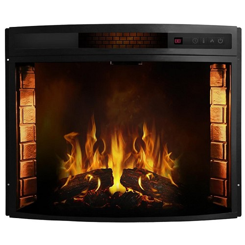 Regal Flame 33 Inch Curved Ventless Heater Electric Fireplace Insert