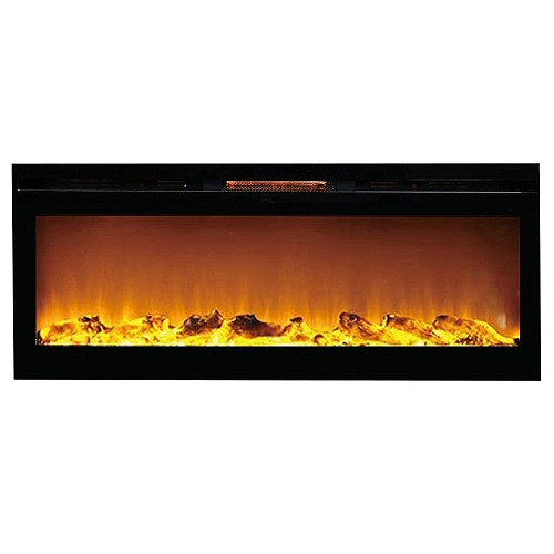 Regal Flame Astoria 60 Inch Built-in Ventless Heater Recessed Wall Mounted Electric Fireplace - Log