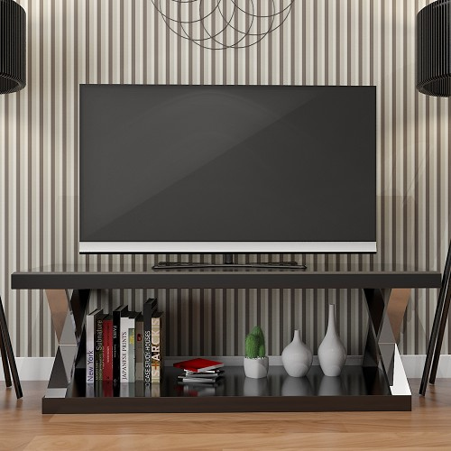 Ryan Rove Hayden Double V Design 60 Inch Modern TV Stand