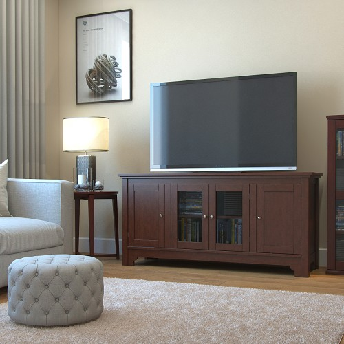 Ryan Rove Harbor 52 Inch TV Console in Walnut Brown