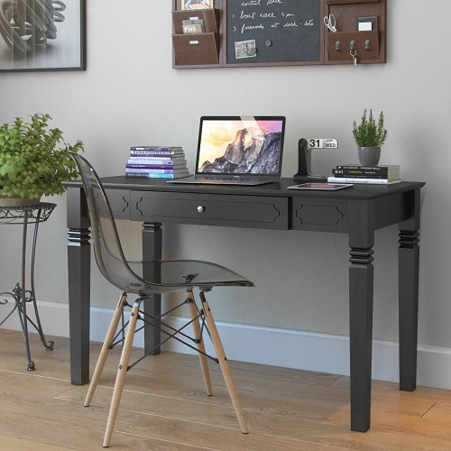 Ryan Rove Langley Wood Writers Desk in Black