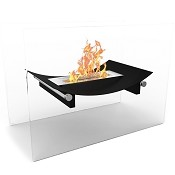 Regal Flame Bow Ventless Free Standing Ethanol Fireplace in Black