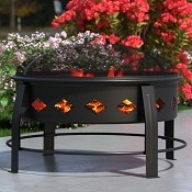 Cosmic Flame 27 Inch Outdoor Backyard Garden Home Light Fire Pit with Poker