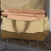 Fade Proof Tan Heavy Duty Jumbo Firewood Log Carrier Tote