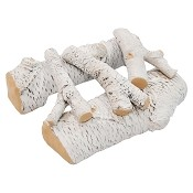 Regal Flame 16 Inch Birch Ceramic Fireplace Gas Logs - 5 Piece