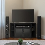 Ryan Rove Aspen 52 Inch TV Corner Console in Matte Black