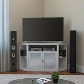 Ryan Rove Aspen 52 Inch TV Corner Console in Matte White