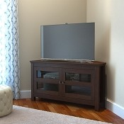 Ryan Rove Axel 44 Inch Corner TV Console - Brown