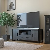 Ryan Rove Wendell 60 Inch TV Stand in Ash Grey and Black