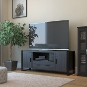 Ryan Rove Bermuda 60 Inch TV Stand in Charcoal and Black