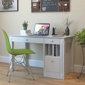 Ryan Rove Breen Wood Desk in White