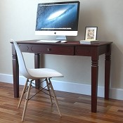 Ryan Rove Lily Wood Writers Desk in Walnut