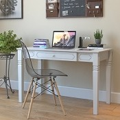 Ryan Rove Annabel Wood Writers Desk in White