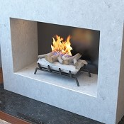 18 Inch Birch Convert to Ethanol Fireplace Log Set with Burner Insert from Gel or Gas Logs